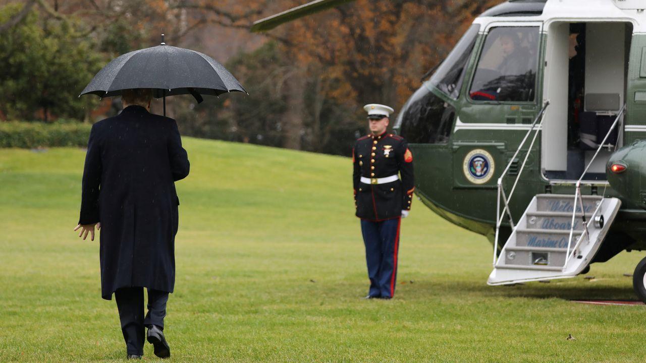 Trump despegó ayer rumbo a Londres para participar en en la 70ª cumbre de la OTAN