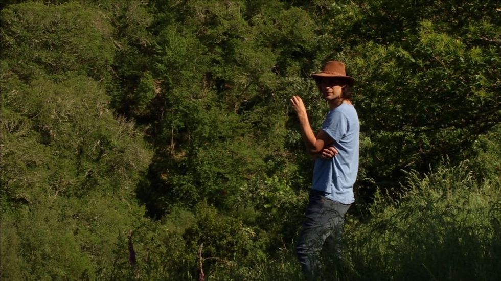 Óliver Laxe, en Vilela (Cervantes), onde desenvolve un proxecto de dinamización rural