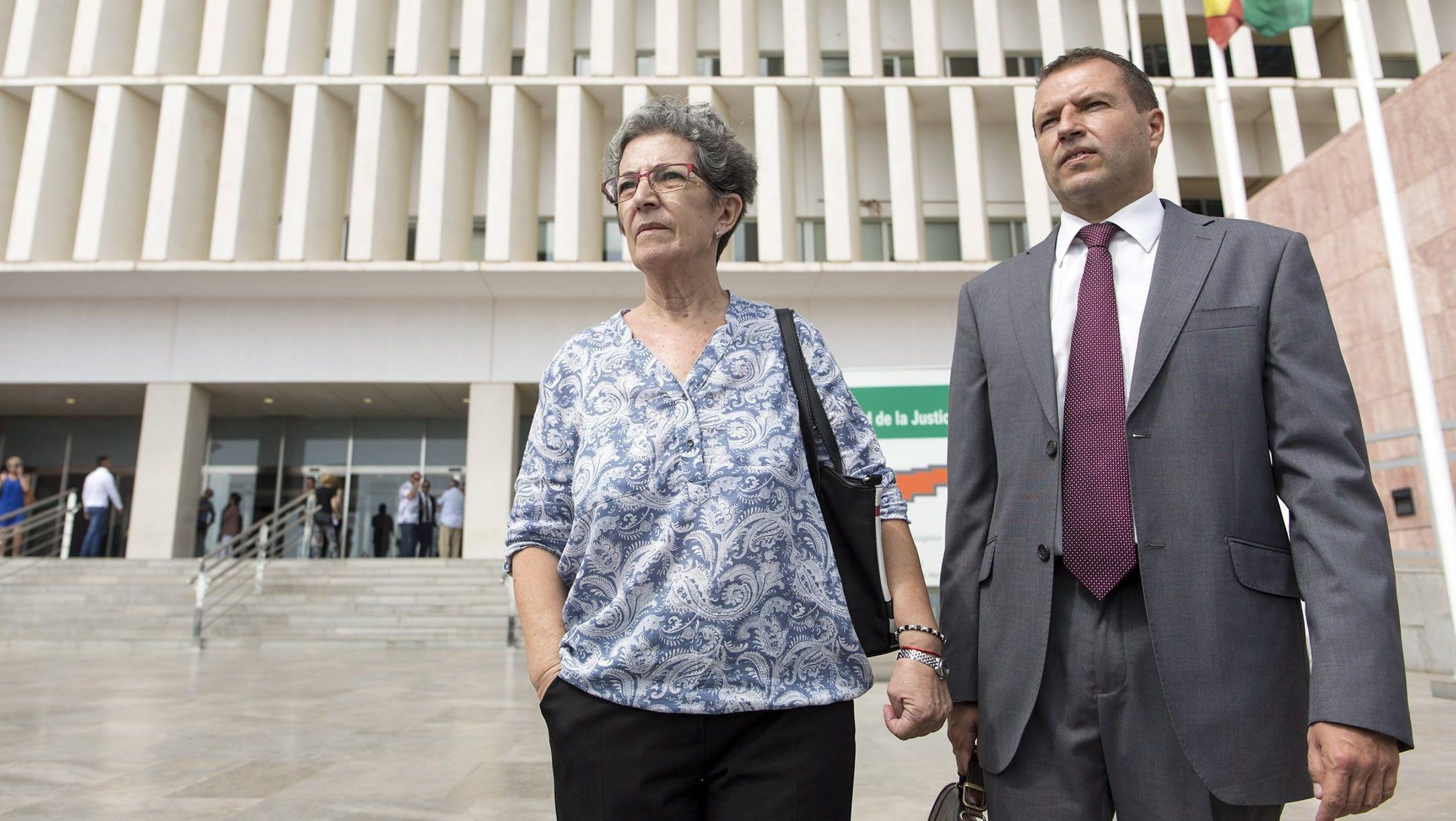 La madre de David Guerrero, Antonia Guevara, el día que la Justicia declaró a su hijo oficialmente muerto