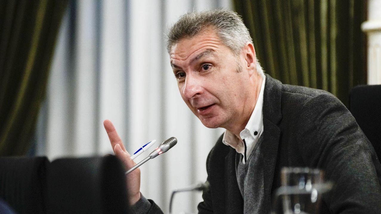 Arde Toén.Luis Seara, portavoz municipal del BNG en Ourense