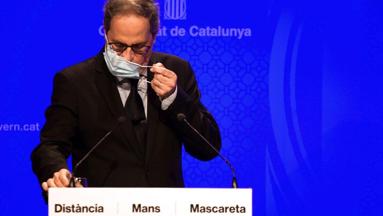 Conferencia de Presidentes en La Rioja.De izquierda a derecha, Cuixart, Junqueras, Romeva y Turull salen de prisión, el pasado 17 de julio