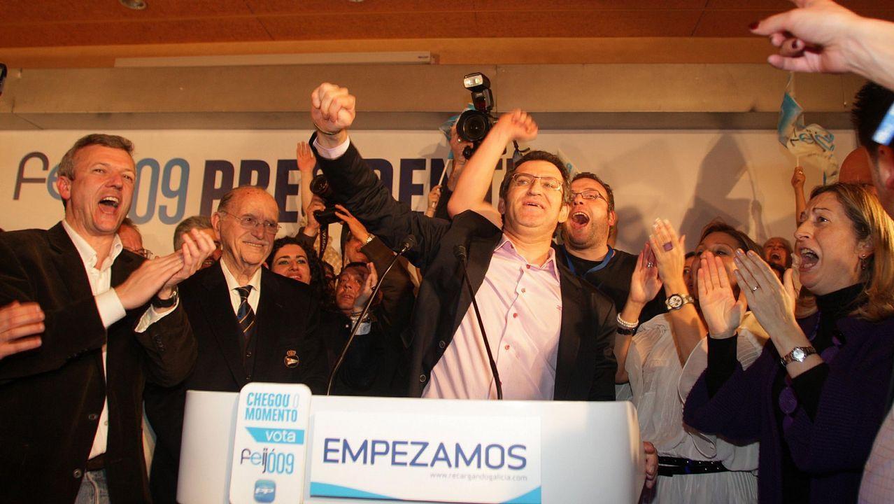 La vida de los 11 exconselleiros de Feijoo.Feijoo no tenía discurso de ganador y el PPdeG tuvo que improvisar una fiesta en un hotel.