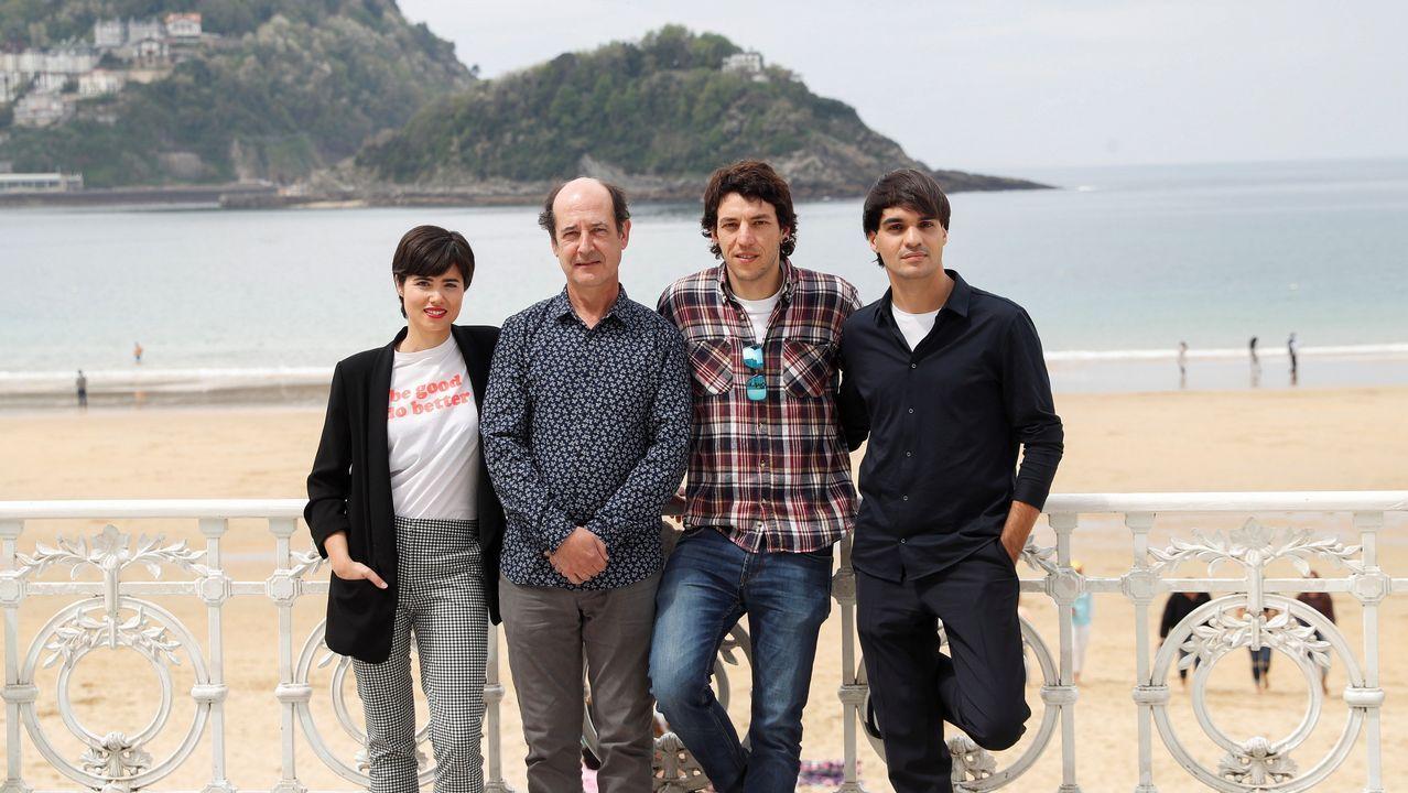 La trayectoria política de Pérez Rubalcaba en imágenes.Los actores Loreto Mauleon, Mikel Laskurain, Jon Olivares y Eneko Sagardoi.