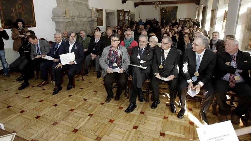 Premio Azorin.Ramón Pernas, Carlos Agulló, Miguel Llansó y Lola Huete, ayer en la presentación del libro «Addis Addis» en Madrid.