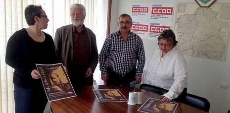 Rosa Expósito, Xan María Castro, Francisco Cazón y Covadonga Viamonte presentaron ayer el homenaje.