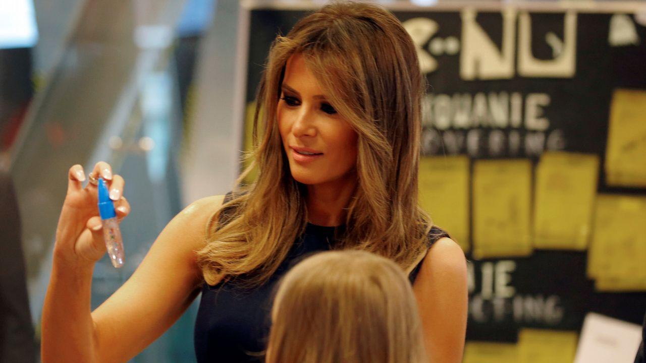La apuesta de Melania Trump por la moda española.El príncipe Harry, junto a Melania Trump en Toronto
