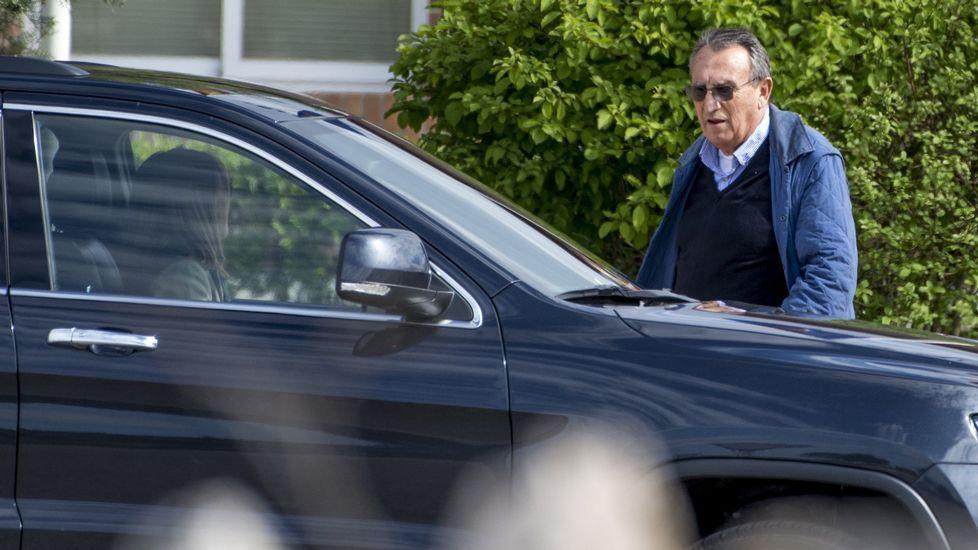 Carlos Fabra, saliendo de la cárcel la semana pasada