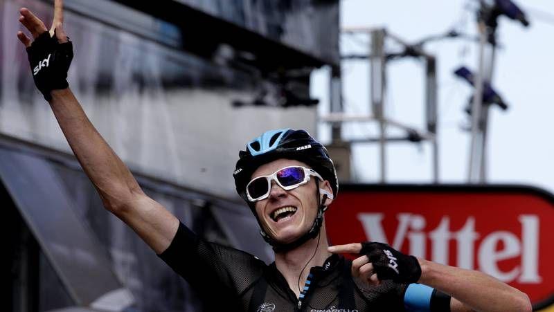 Decimoprimera etapa del Tour de Francia.Ciclistas del Sky, en la jornada de descanso