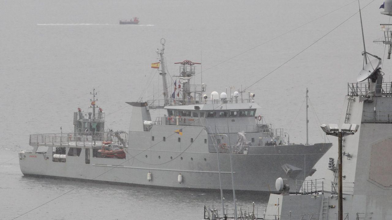De 66 metros de eslora y 11 de manga, el patrullero militar Arnomendi (en una imagen de archivo) controlará la costera del bonito hasta el día 28