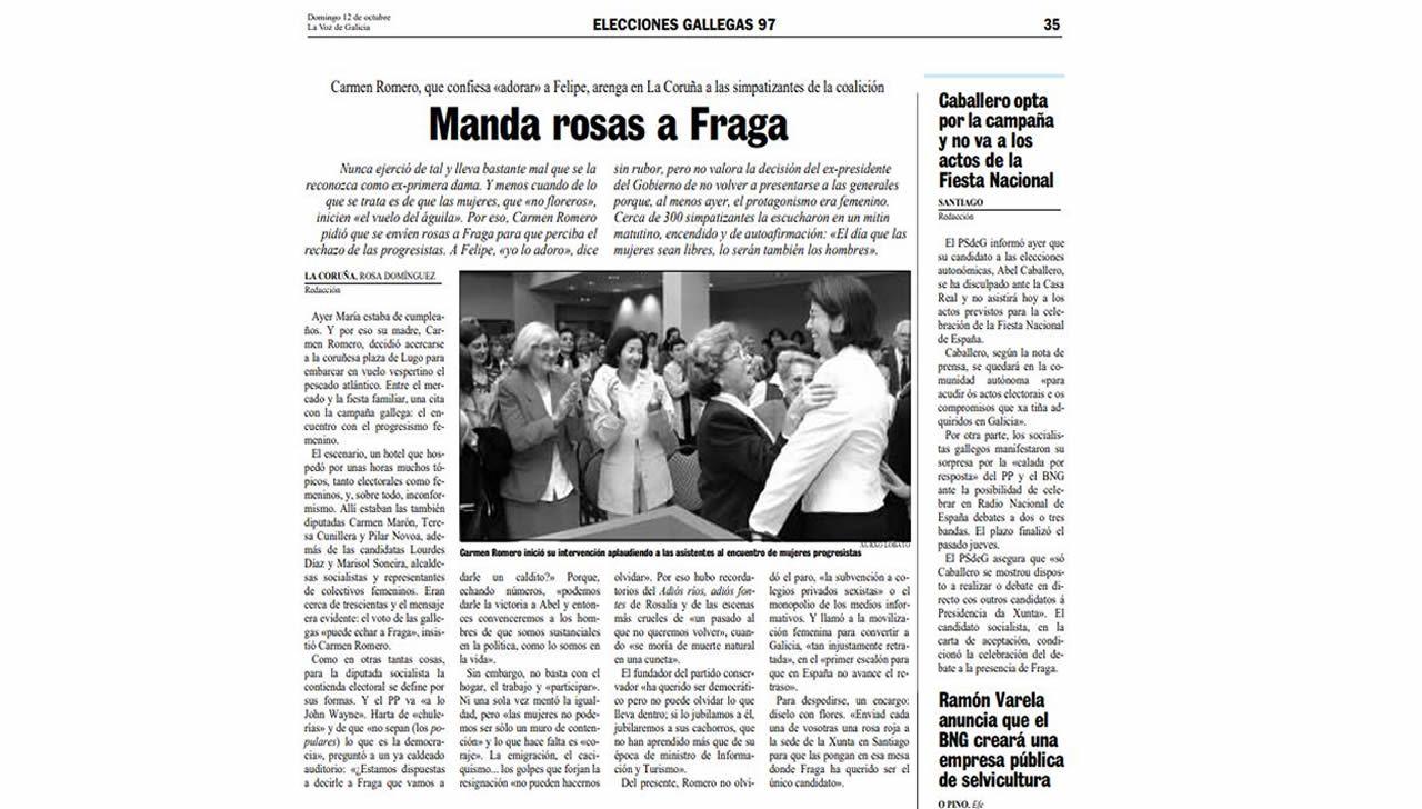 Artículo publicado en La Voz de Galicia el 12 de octubre de 1997