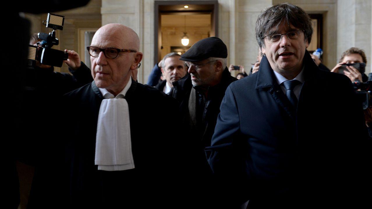Puigdemont llega a los juzgados que estudiarán hoy la reactivación de la euroorden
