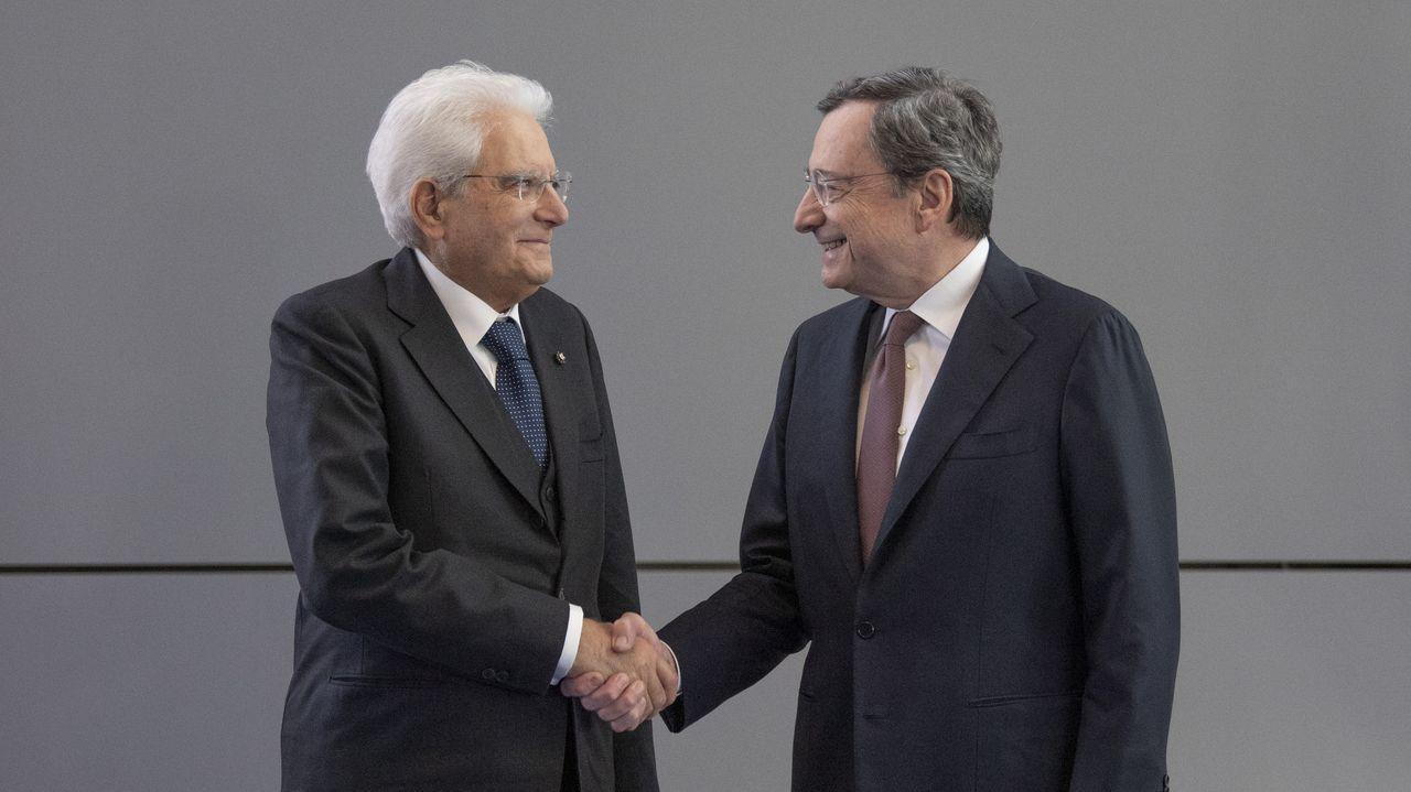 Draghi y Mattarella en una imagen del 2019
