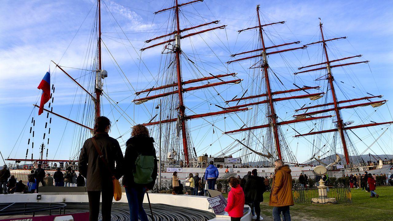 El Sedov visita Vigo en su gira por el mundo.Apostolos Mangouras