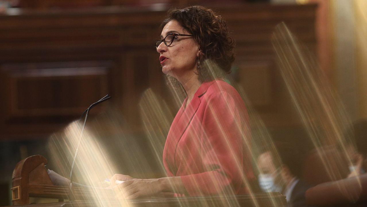 La ministra de Hacienda y portavoz del Gobierno, María Jesús Montero, este martes, tras el Consejo de Ministros