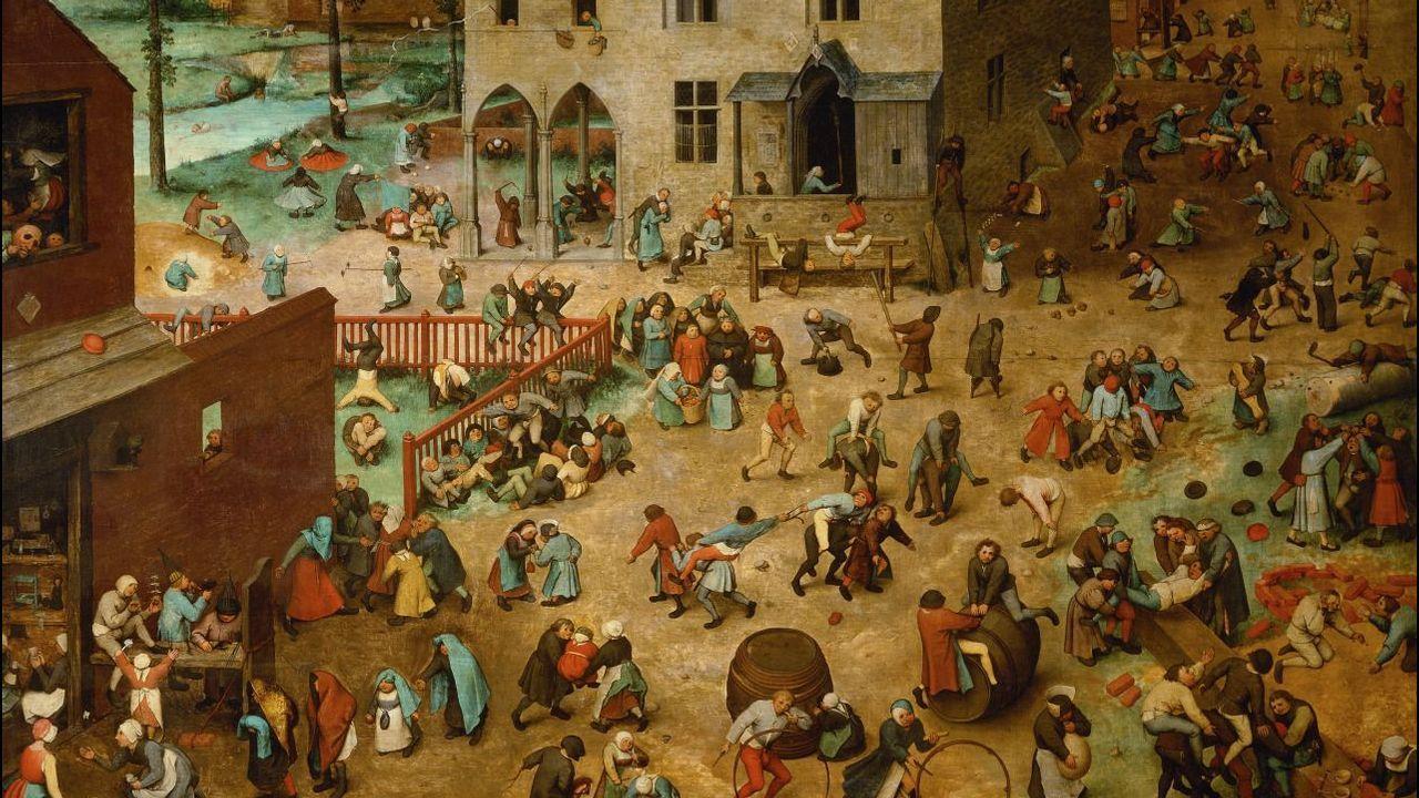 Álbum de fotos: Así se encuentran el estadio de A Alta.«Juegos de niños» (1560), de Pieter Bruegel el Viejo. Kunsthistorisches Museum, Viena