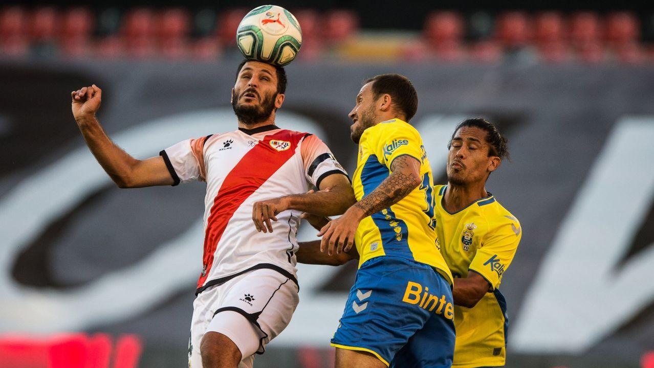 Qasmi, durante un partido contra Las Palmas