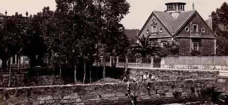 Imagen histórica del esplendor de la Villa Güimil, algo que ya solo queda en el recuerdo.