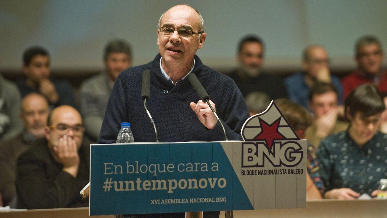 Galiza en Marcha, lema de campaña do BNG.Foto de archivo de Francisco Jorquera