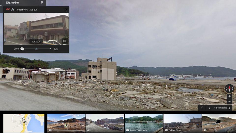Google Maps.Shinzo Abe, primer ministro de Japón .