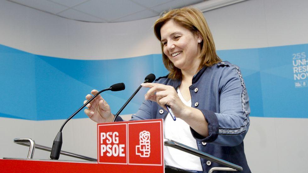 Carmela Silva, Lara Méndez, Pilar Cancela y Laura Seara