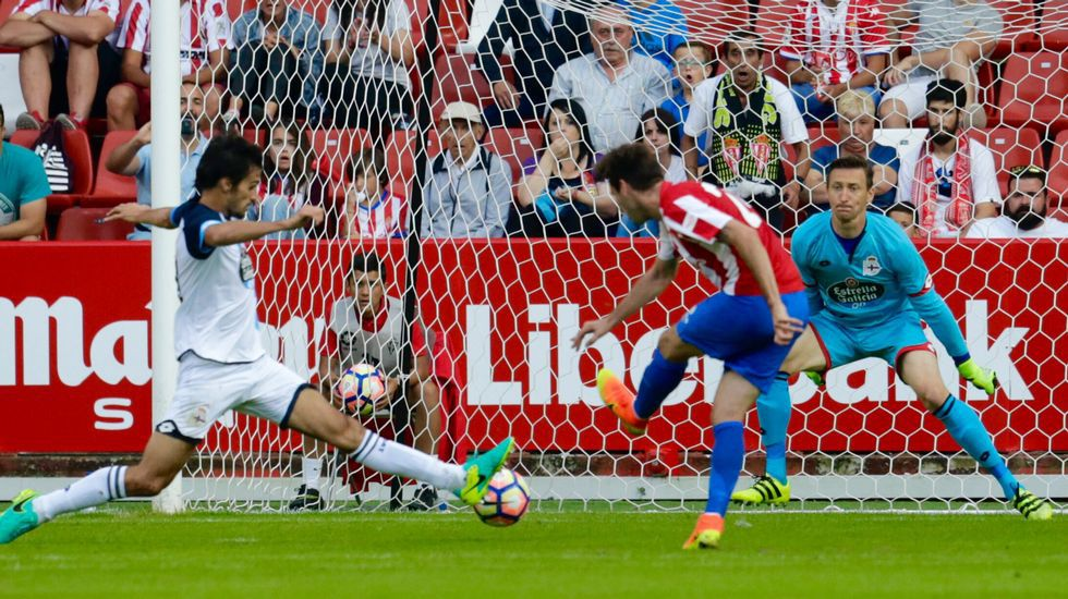 Las mejores imágenes del Sporting - Deportivo en el Villa de Gijón