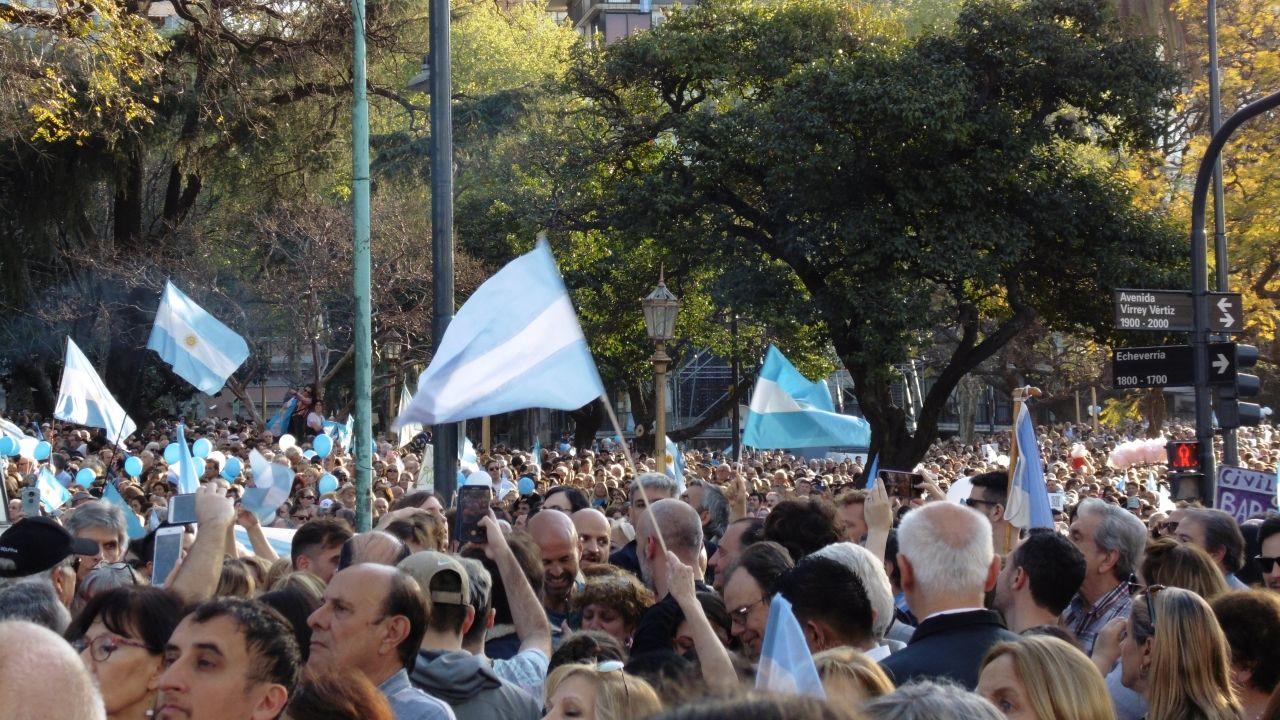 Acto de apoyo a Macri el pasado sábado