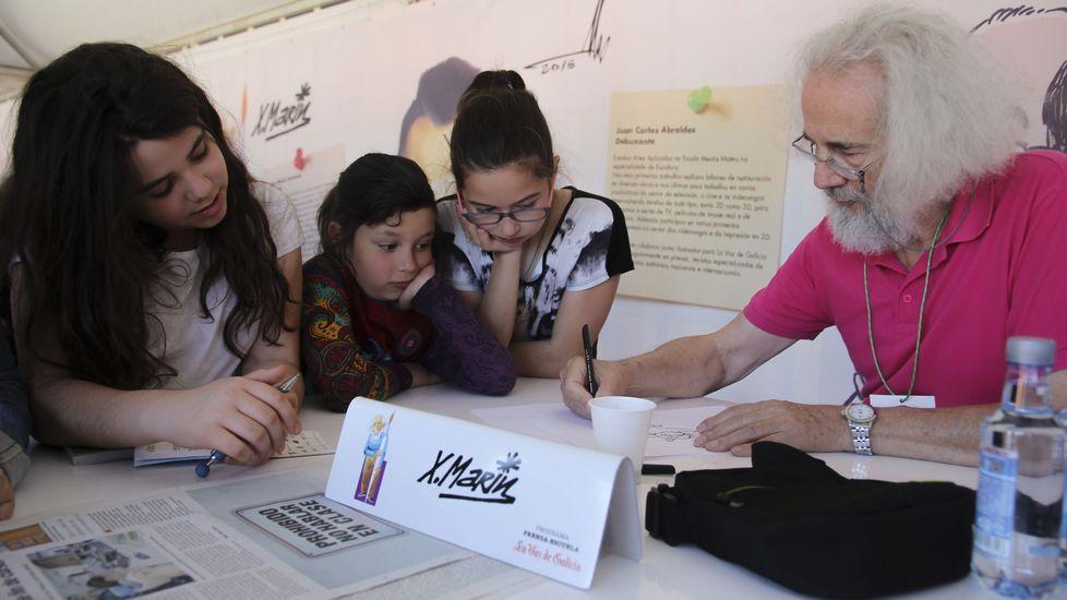 Xaquín Marín volverá a estar un año más en el taller de dibujo