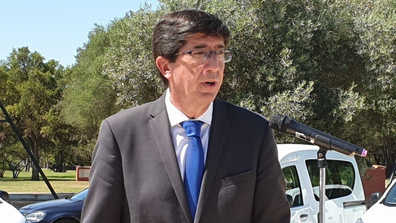 El vicepresidente de la Junta de Andalucía y líder de Ciudadanos en la región, Juan Marín, cuya formación lleva ya 9 ceses y renuncias en los últimos seis meses