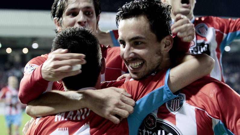 tito_portadah.Celebración de un gol frente al Barça B