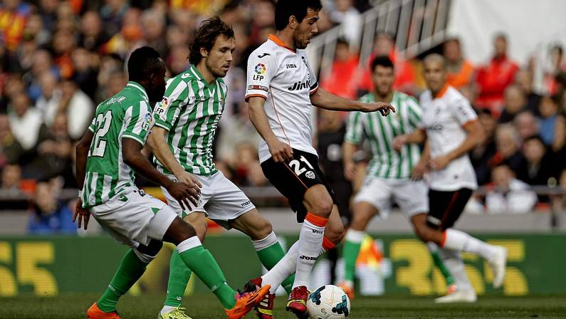 Partido entre Valencia y Betis la pasada jornada