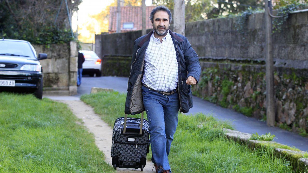 Dinero.José Manuel Costas, dirigiéndose al juzgado en el año 2013