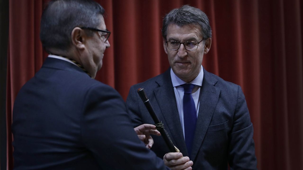 feijoo.El profesor Julio Abalde comienza su segundo mandato como rector de la Universidade da Coruña (UDC)