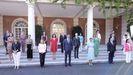 El nuevo gabinete de Sánchez antes de su primer consejo de ministros el 13 de julio.