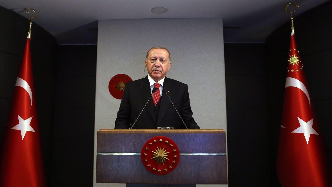 Erdogan realizó el anuncio del plan de producción en el marco de la inauguración de un hospital en Estambul
