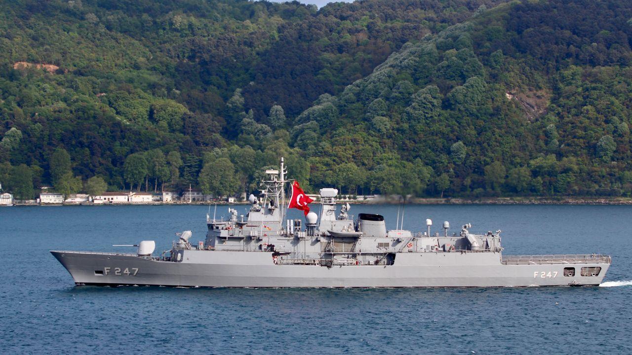 La fragata turca TCG Kemal Reis (F-247) fotografiada en Estambul el pasado mes de mayo