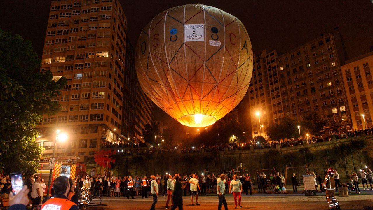Ascenso y caída del globo de Os Castros.La fiesta comenzará a las diez de la mañana y se extenderá todo el día