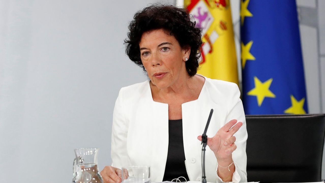 El Gobierno a Torra: «No aceptamos ultimátums».La ministra de Educación, Isabel Celaá