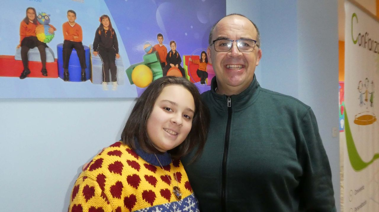 Domingo Lambedoiro en Chantada.Andrea e Elías Piñeiro, do colexio Divina Pastora de Ourense