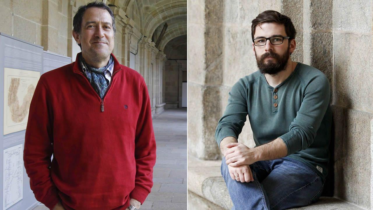 Ramón Fábregas Valcarce y Carlos Rodríguez Rellán, en sendas imágenes de archivo