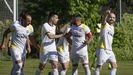 Imagen de un partido del Arnoia en la presente temporada