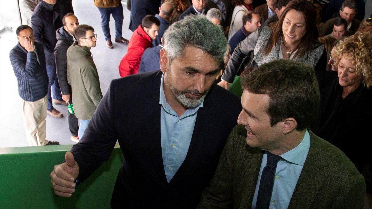 Juan José Cortes con Pablo Casado