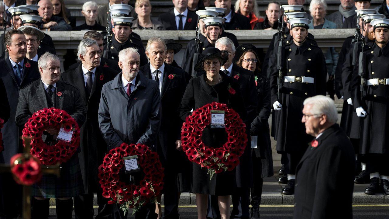 Acto en recuerdo de los británicos caídos en el conflicto