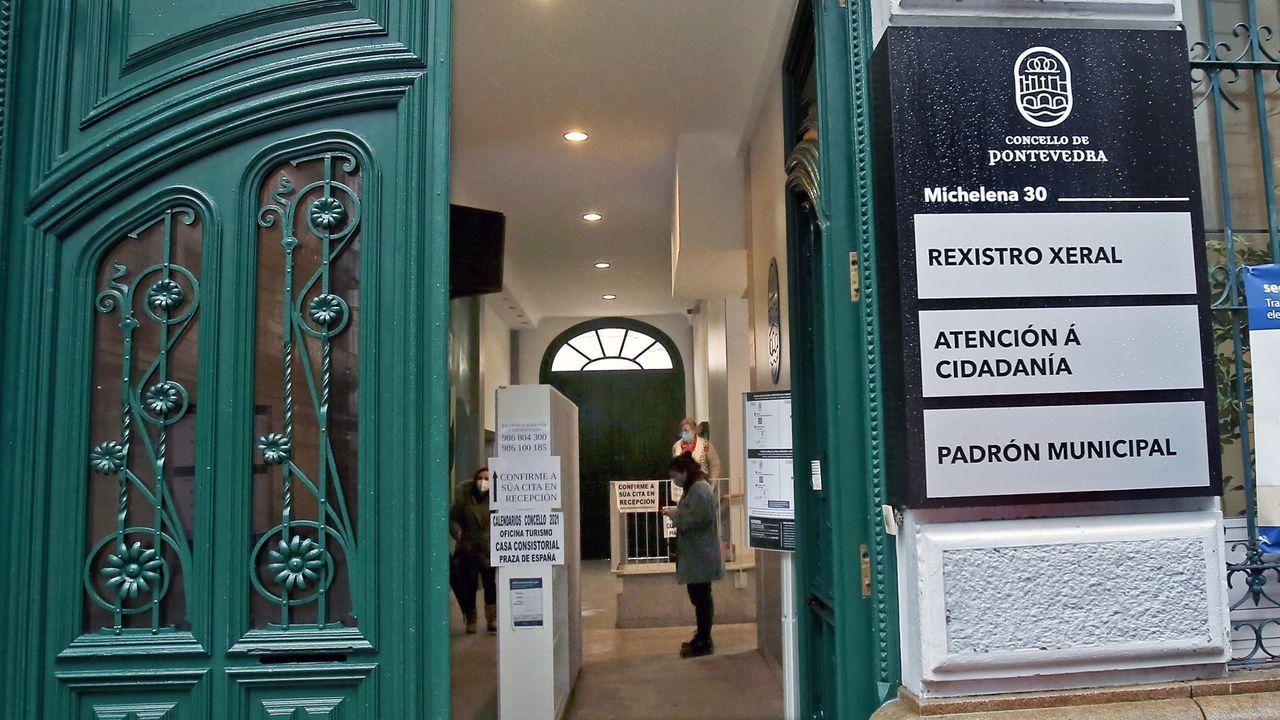 Sede principal del Concello de Pontevedra en la calle Michelena