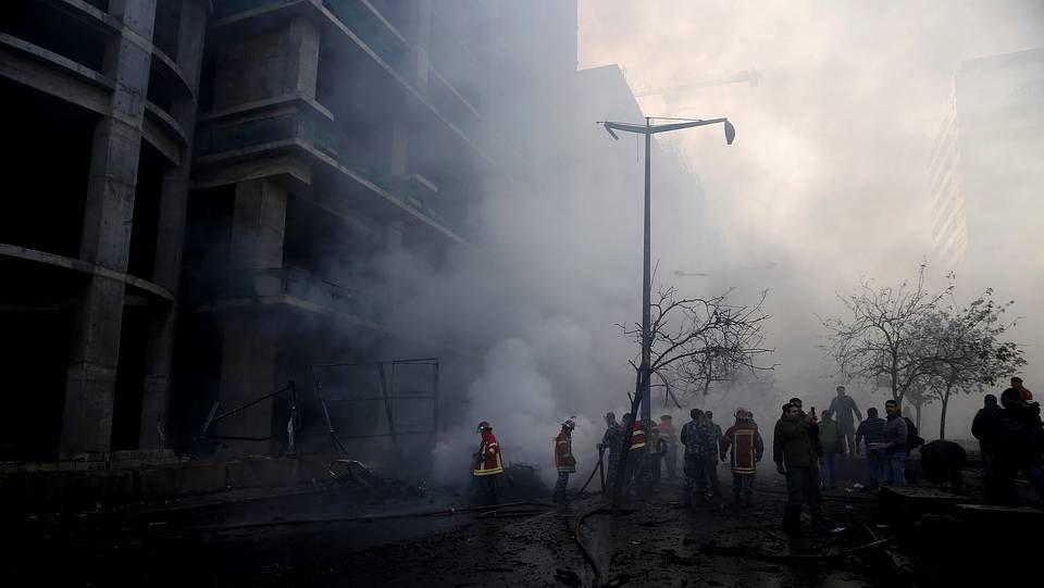 Imágenes tras la explosión en el centro de Beirut
