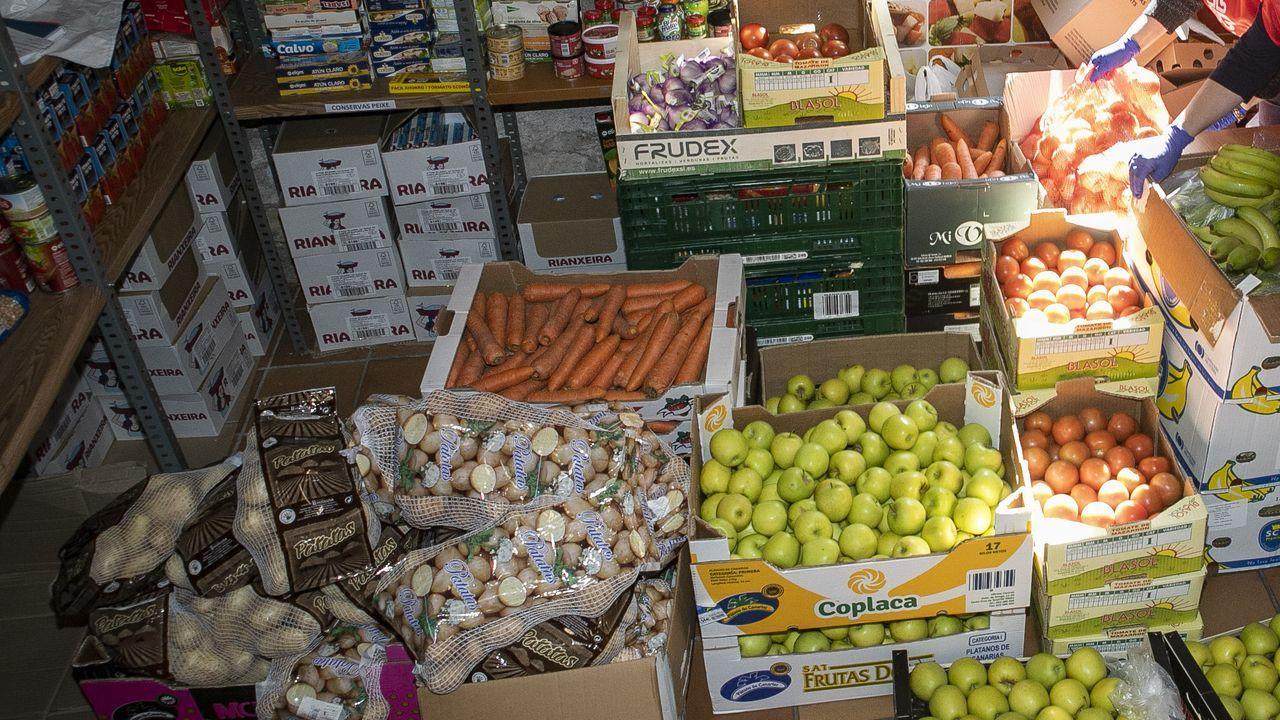 Imagen de un banco de alimentos en una localidad gallega