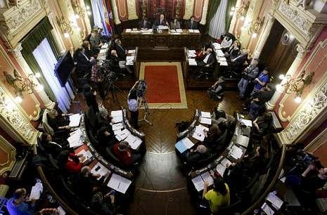 Salón de plenos del Concello, donde el año pasado se debatieron 24 mociones impropias.