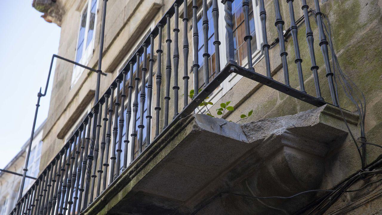 Daños en el Patrimonio de Santiago.Concentración de polen al levantarse las nubes