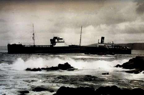 El Boris Sheboldaef, hundido frente a Camelle en 1934, es uno de los barcos incluidos en la aplicación.