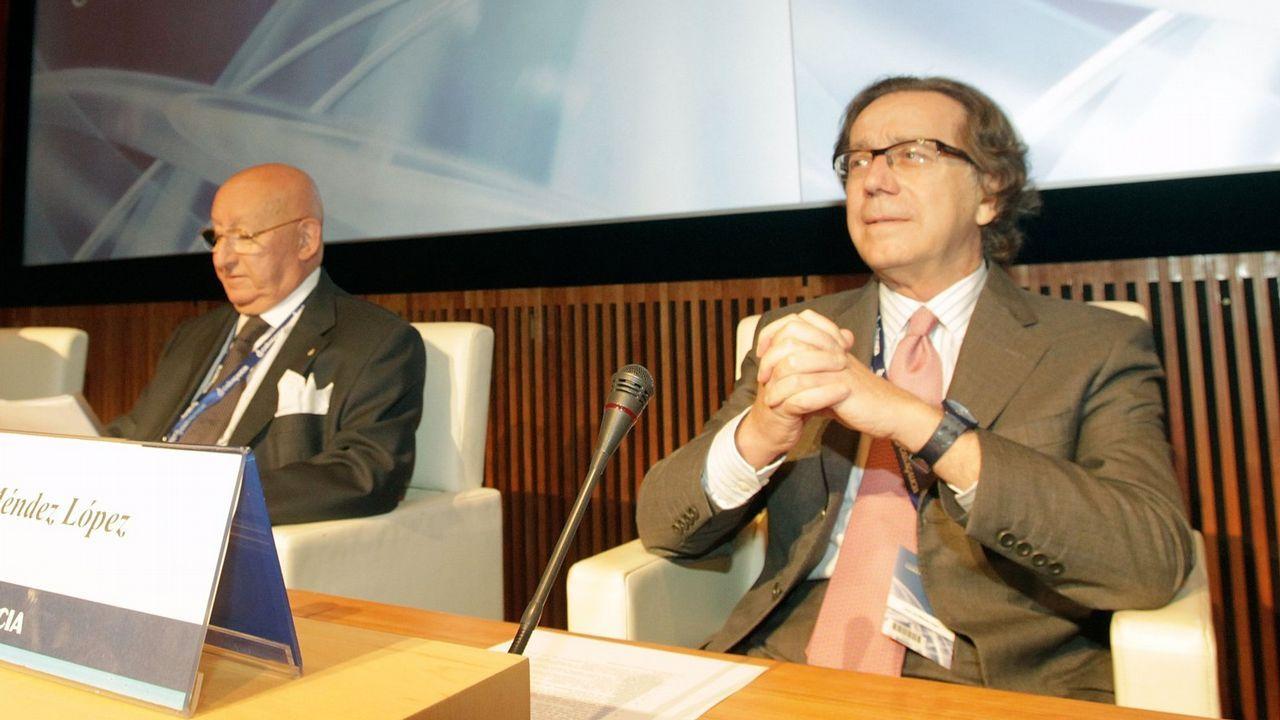 Gayoso evita explicar de nuevo por qué se intervinieron las cajas gallegas.Julio Fernández Gayoso, copresidente