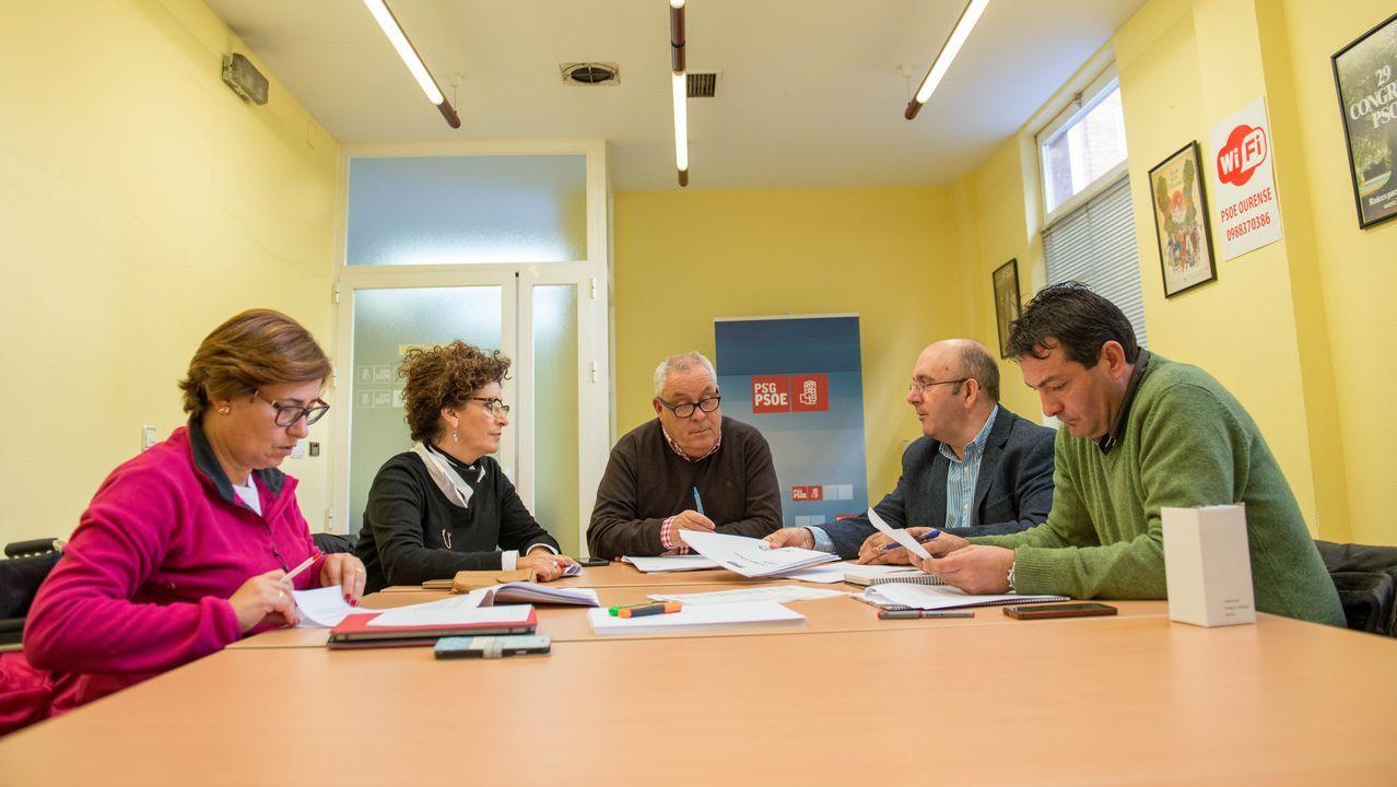 Declaraciones de los candidatos del PSOE.Pachi Vázquez, Álvaro Vila, Rafael Rodríguez y Noela Blanco